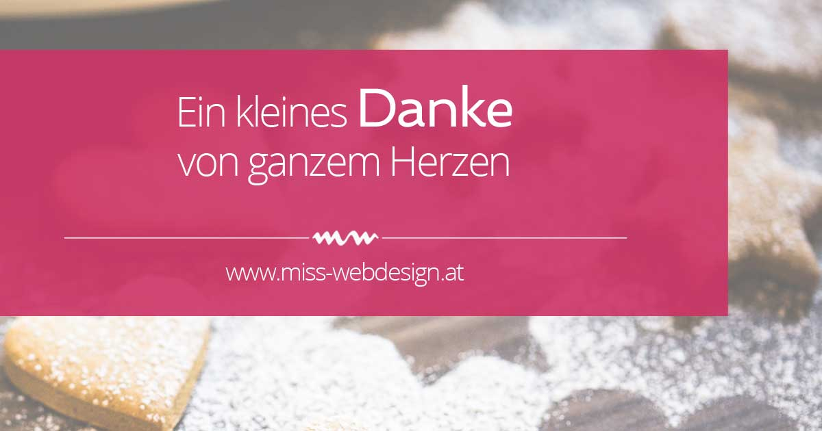 www.miss-webdesign.at sagt Danke