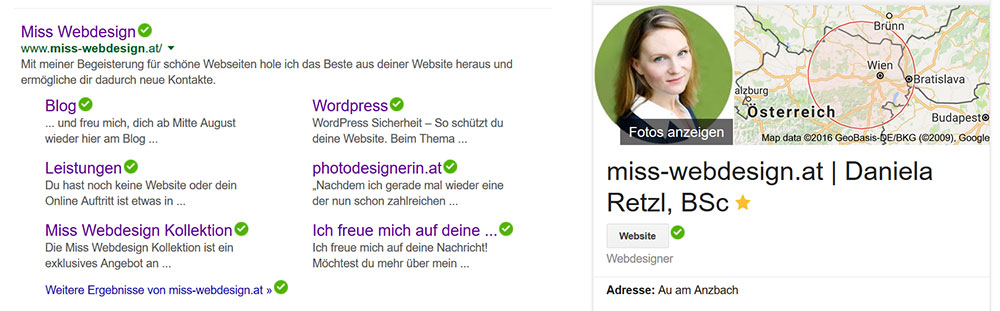 Google Knowledge Graph in den Suchergebnissen | miss-webdesign.at