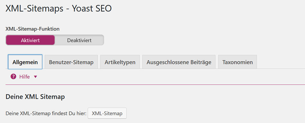 Yoast SEO XML-Sitemap | miss-webdesign.at