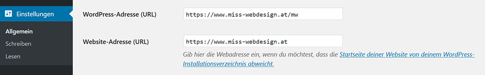 Stelle beide Urls auf https um | miss-webdesign.at