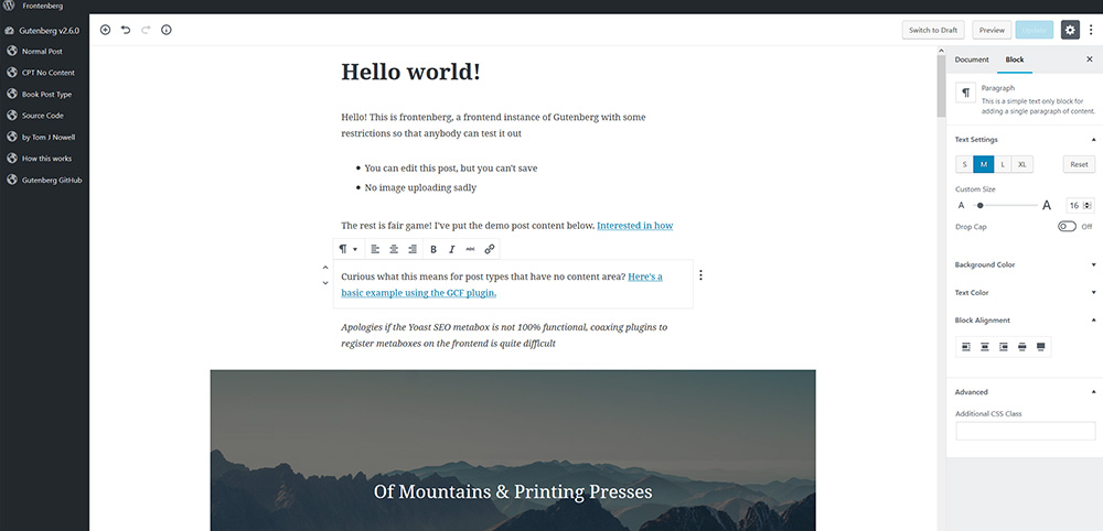 Gutenberg, der neue WordPress Editor | miss-webdesign.at