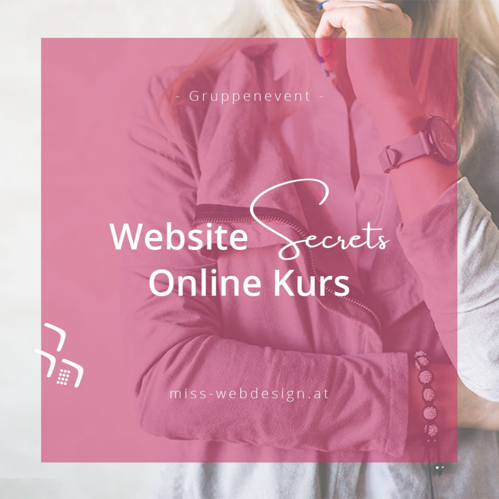 Website Secrets - der Online Kurs | miss-webdesign.at