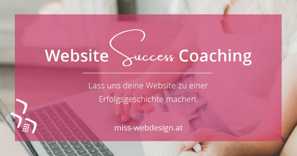 Website Success Coaching | miss-webdesign.at